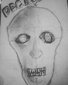 (at Eureka Paprika) Macabre Art, Charcoal Drawing, Decay, Sketching, Bee, Pencil, Skull, London, Honey Bees
