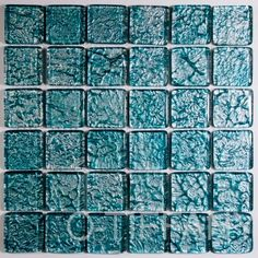 Teal metallic mosaic tiles