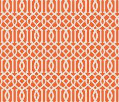 Imperial Trellis-Orange fabric by melberry on Spoonflower - custom fabric