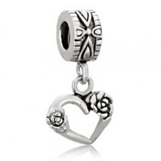 Rose Mosaic Hollow Heart Dangle Charm SOUFEEL Jewelry - Fit PANDORA/TROLLBEADS/CHAMILIA. #Jewelry #Fashion #Silver #handcraft #DIY  #Accessory #customjewelry lovebeadsworld.com
