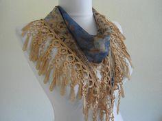 Traditional Turkishstyle Necklace scarvesHeadband by likeknitting, $14.99