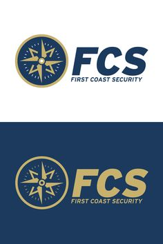 Logo variations for First Coast Security. Designed by @seankinberger