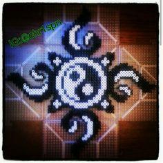 Ying yang custom perler