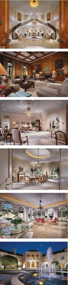 Dinning room.  Petra Ecclestone, a 22 year old British socialite and heiress, purchased the enormous Holmby Hills mansion of Candy Spelling and Aaron Spelling's Manor 57000 sq. ft,
