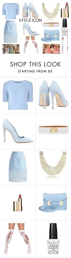 """Style Icon: Chanel Number 6 from Scream Queens"" by aradiamegiddy ❤ liked on Polyvore featuring Glamorous, Dee Keller, Hermès, Chicwish, Bling Jewelry, Sophie Hulme, OPI and Korres"