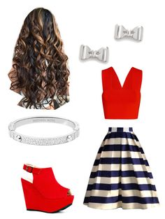 """""""Outfit for a party"""" by sarayxg on Polyvore featuring Chicwish, Michael Kors, Marc by Marc Jacobs and A.L.C."""