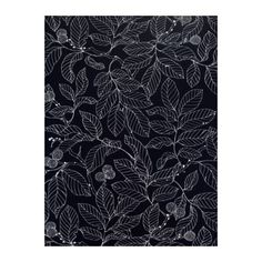 IKEA STOCKHOLM BLAD  Fabric, black  $8.99 / yard---I'm in search of the perfect fabric to reupholster my dining room chairs