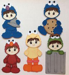 Premade Sesame Street Set of 5 Paper Piecings My Tear Bears Kira | eBay