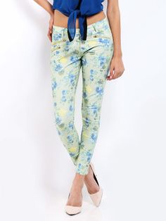 Buy DressBerry Women Green & Blue Floral Print Trousers - - Apparel for Women Printed Trousers, Blue Green, Floral Prints, Pajama Pants, Pajamas, Stuff To Buy, Women, Style, Fashion
