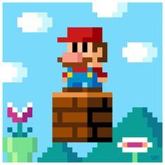Nothing like a good Mario pixel illustration