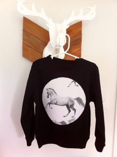 Crew Neck Jumper with round funky 100% Cotton PatchPerfect for your little one to sport in the cooler months