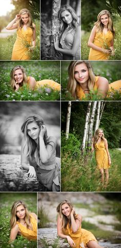 Natural grassy senior portraits at Coralville Lake. Summer dress and prairie grass. Jaimy Ellis - Photographer