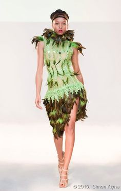 images of african fashion in green | Designer Marital Tapolo ~ Green and loving it! #africanfashion