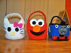 Crafty Confessions: Crochet Character Easter Baskets