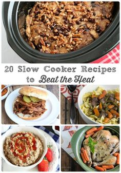 Keep that stove and oven off and your kitchen cool this summer with these 20 Slow Cooker Recipes to Beat the Heat.