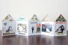 accordion mini book - sweet home