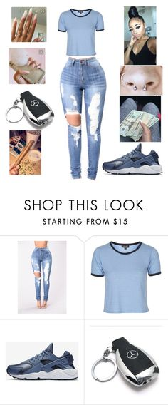 """""""Untitled #430"""" by yagirlnini ❤ liked on Polyvore featuring beauty, Topshop, NIKE and Mercedes-Benz"""