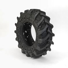 Wim Delvoye, Untitled (Car Tyre), 2009, hand carved car tyre , 122 x 38 cm