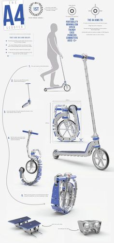Scoot-Rack Support Mural Scooter Stand-Blanc