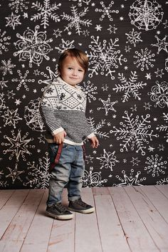 Snowflake Chalk Photo Backdrop by PepperLu on Etsy