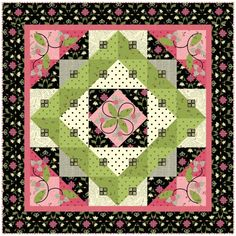 Elizabeth's Letters Free Quilt Pattern.