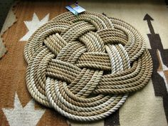 celtic knot rugs. i do love celtic knots and this is a wonderful example knotted rug from raggin 2 ruggin