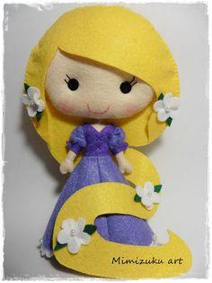 Tangled felt doll tangled doll felt Rapunzel Rapunzel