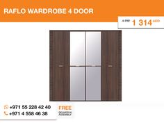 A huge 4-door wardrobe with mirror in the middle, designed in Poland, colored in Oak venge bronze, 25% OFF, 1 year warranty, free delivery and asembly, only one item left – that's all about the Raflo wardrobe. Purchase!   More details here: http://gtfshop.com/raflo-wardrobe-4-door