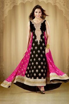 Bollywood Actress Lara Dutta Latest long Anarkali Salwar Kameez