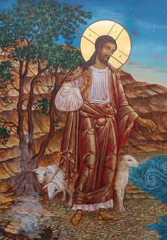 Christ the Good Shepherd Life Of Christ, Christ The King, In Christ Alone, Religious Images, Religious Icons, Religious Art, Catholic Prayers, Catholic Art, Christ The Good Shepherd