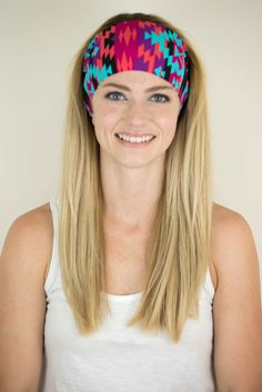 Fiesta print headband from Fitness Fox Collection. Great for Crossfit, running, dance and spin!