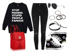 """""""Sin título #12171"""" by vany-alvarado ❤ liked on Polyvore featuring River Island, Converse, Ray-Ban and Links of London"""