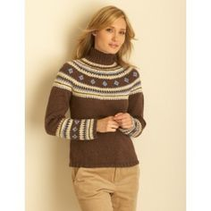 Fair Isle Yoke Pullover in Bernat Super Value. Discover more Patterns by Bernat at LoveKnitting. The world's largest range of knitting supplies - we stock patterns, yarn, needles and books from all of your favourite brands.