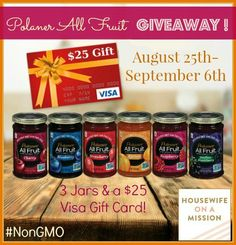 """Housewife on a Mission: Polaner All Fruit Giveaway 