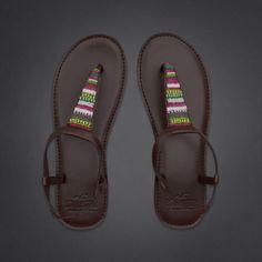 Vintage Beaded Flip Flops