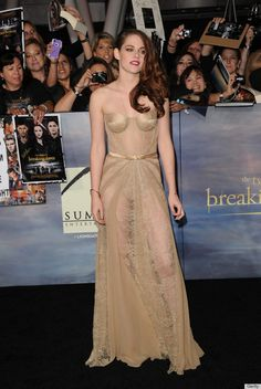 """Kristen Stewart in a """"nude"""" dress for the new Twilight movie: Is it a hit or miss?"""