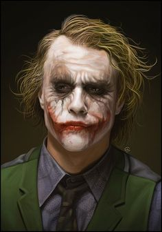 Heath Ledger's Joker by TovMauzer @deviantART