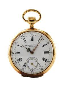Patek Philippe Chronometro Gondolo pocket watch in vintage watches