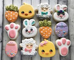 Decorated Easter cookies are such a cute addition to the Easter celebrations. Ge… Decorated Easter cookies are such a cute Easter Cupcakes, Easter Cookies, Easter Treats, Easter Cookie Cutters, Valentine Cookies, Birthday Cookies, Birthday Bash, Christmas Cookies, Iced Cookies