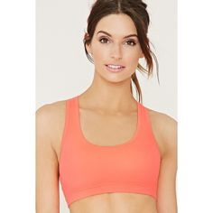 Forever 21 Women's  High Impact - Mesh Sports Bra ($13) ❤ liked on Polyvore featuring activewear, sports bras, red sports bra, racer back sports bra, forever 21 activewear, forever 21 and racerback sports bra