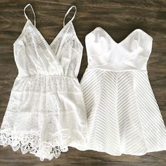 Lace & subtle textures. Fall in love with rompers, dresses & more at www.tautmun.com!