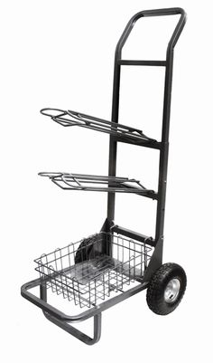 A folding saddle cart doesn't take up much room when it's not needed, but when it is, it can make things much more convenient. This item is great to take to shows, helping keep cramped tack stalls more organized.
