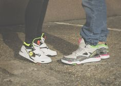 We Love The Reebok Pump omnilites, for him and for her, the perfect match. #Reebok #Pump #Sneakers