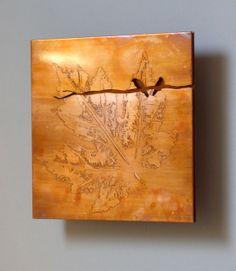 beautiful! Two Birds Copper Metal Art 5in by CopperLeafStudios on Etsy, $50.00