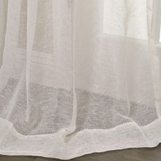 Luxurious Open Weave Cream Linen Sheer Curtains and drapes for window coverings. Buy Linen Sheers curtains at your expected price. Curtains 1 Panel, Sheer Linen Curtains, Sheer Curtain Panels, Living Room Decor Curtains, Diffused Light, Open Weave, Room Themes, Window Coverings, Weaving