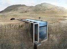 Sichtbeton - Dieses außergewöhnliche Wüstenhaus wurde von drei griechischen Architekten entworfen. 'Casa Brutale' wurde in einem Felsvorsprung direkt über