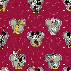 Disney Mickey And Friends Cotton Fabric - JoAnns Mickey Mouse Shorts, Mickey Mouse And Friends, Mickey Minnie Mouse, Disney Mickey, Arte Disney, Disney Art, Disney Pics, Disney Scrapbook, Scrapbook Paper