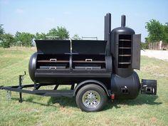 Nuevo cocina de barbacoa Pit fumador y parrilla de carbón remolque