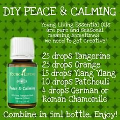 Young Living Peace & Calming P&C Peace and Calming DIY substitute