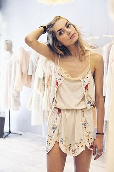 MES DEMOISELLES - EMBROIDERED DRESS